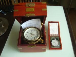 Very rare Russian marine chronometer KIROVA +deck watch POLET