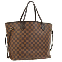LOUIS VUITTON NEVERFULL MM SHOULDER TOTE BAG PURSE DAMIER N51105 AK37992i