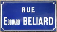 Old French enamel street sign plaque road name artist Édouard Béliard Etampes