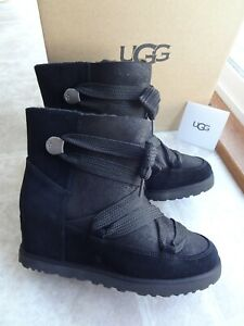 UGG Classic Femme Lace-Up Wedge Heel Bootie, 8 (New) Free Shipping