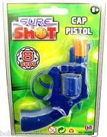 Shot Cap Pistol Plastic Cap Gun 8 Shot Revolver Chamber Toy Revolving Pistol New