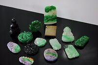 Antique/Vintage chinese lot of jade/jadeite pendants