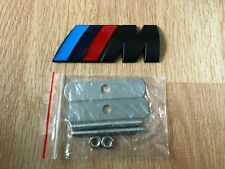 1x BMW M Tech Sport Front Grill Badge Fits Series 1 3 5 E60 MSport Black/Blue