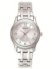 Bulova Women's Quartz Silver-Tone Stainless Steel Bracelet 30mm Watch 96L005