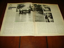 1966 LAMBORGHINI 350 GT ***ORIGINAL ARTICLE / ROAD TEST***
