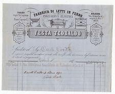 O478-TORINO-ANTICA FATTURA-DITTA FESTA TEOBALDO 1870