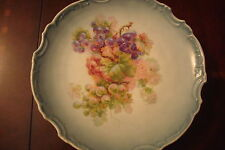 German Unmarked collector plate decorated with grapes and flowers [#67]