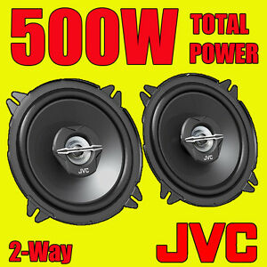 JVC 500W TOTAL 5 INCH 13cm 2-Way CAR/VAN DOOR SHELF COAXIAL SPEAKERS NEW PAIR