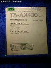 Sony Bedienungsanleitung TA AX430 Stereo Amplifier  (#1109)