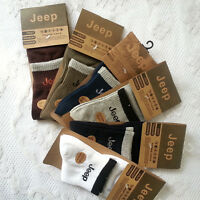 5 Pairs Solid JEEP MANS Cotton Comfy Casual Sports Walking Socks