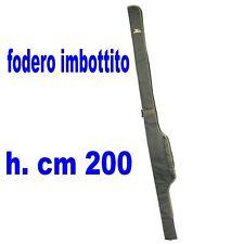 fodero singolo imbottito metri 2 pesca carpfishing porta canne con mulinello