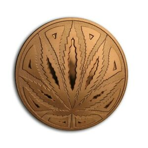 1 oz Copper Round - Cannabis (The Big Leaf)