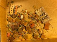 Big Lot of NOS vintage Ceramic Disk & other Capacitors 1950s 1960s 1970s Mica