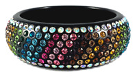 Multi Color Rhinestone Bracelet Pageant Glamour Statement Jewelry B12380