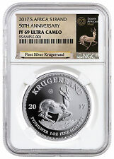 2017 South Africa 1 oz. Silver Krugerrand NGC PF69 UC Exclusive Label SKU47956