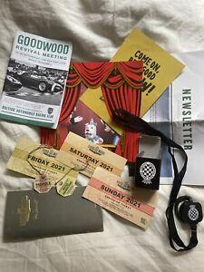Goodwood Revival Programme 2021 + Race Card Tickets Passes Radio Etc