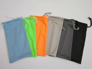 """12 PCS Microfiber Sunglasses Pouches/Cleaning Case 3.5""""x7"""" -Pick color Generic"""