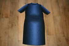 NEW! COS knitted jumper dress 100% wool  SIZE S 8 bodycon pencil stretch unusual