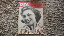 OLD AUSTRALIAN PIX MAGAZINE, OCT 1956, COVER GIRL SYLVA KOSHINA