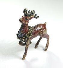 Vintage Miniature Cold Painted Bronze Deer