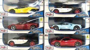 NEW Bugatti Ferrari Lamborghini Maisto Special Edition 1:18 Scale Die-Cast Cars