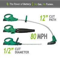 20 Volt Cordless 3 In 1 Blower String, Hedge Trimmer Battery Included Lawn Care