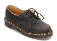 197 Chaussures pour Enfants Braun Cuir Dr.Martens Airwair England, à Lacets 34