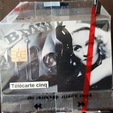 """Télécarte 5 unités """"BMW le cinéma a 100 ans"""". neuve sous blister// 11/95."""