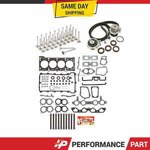 Head Gasket Set Valves Timing Belt Kit Fit 00-06 Audi Volkswagen Turbo 1.8L 20V