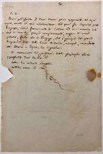 Mazzini Giuseppe Patriota e Politico Genova 1805 Pisa 1872 lettera autografa