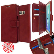 Leather Dual Multi Flip Book wallet Case cover for Galaxy S8 S9 / Note Series