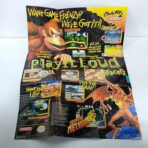 Super Nintendo Play It Loud SNES Poster Insert