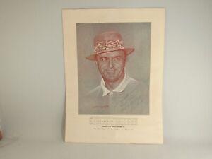 Sam Snead Autographed Print