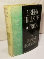 "Ernest Hemingway GREEN HILLS OF AFRICA true 1st ED ""A"" 1935 w/1st issue DJ"