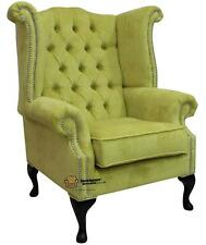 Chesterfield Armchair Queen Anne High Back Wing Chair Azzuro Harvest SS