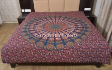 Indian Mandala Duvet Cover Cotton Doona Cover Boho Queen Quilt Blanket Cover