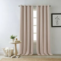 Bee & Willow Home Hadley 84-Inch Grommet 100% Blackout 1 Window Panel in Pink