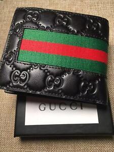 GG Black  Bifold  Man's wallet  GUCCI Bifold Card Wallet  M66