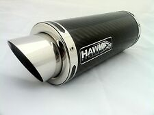 Hawk - Suzuki GSXR 600 K8 K9 L0 Carbon Fiber GP Stubby Road Legal Exhaust Can SL