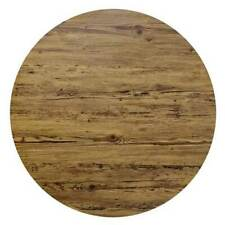 New Flat Edge Table Top Round Outdoor Anti Scratch UV 700mm Aged Pine