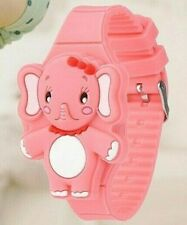 CHILDS CUTE SILICONE LED DIGITAL ELEPHANT WATCH - PINK