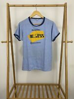 VTG 80s Western Electric It's Coming No Sess Ringer T-Shirt Size L USA