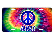 PERSONALIZED LICENSE PLATE CUSTOM CAR TAG TIE DYE HIPPIE PEACE