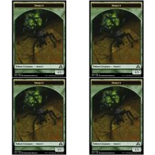 4 x INSECT TOKEN NM mtg Shadows Over Innistrad Green - Creature Token Com