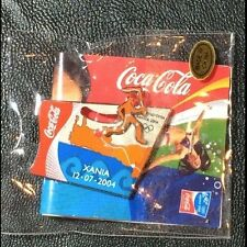 Olympic Pin Badge~Sponsor~Coca Cola~Athens 2004~Slider~Torch Run~NEW on Card
