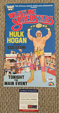 HULK HOGAN Signed 1985 WWF LJN Figure POSTER Wrestling WWE WCW PSA/DNA COA