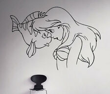Disney Princess Ariel Vinyl Decal Mermaid Vinyl Sticker Cartoon Home Interior 10