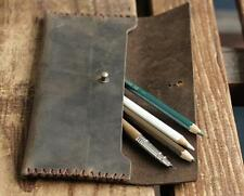 fountain pen bag pencil cow Leather Customize holder handmade case coffee Z514