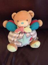 "Kaloo Chubby Star Stripe 7"" Teddy Bear baby soft toy plush comforter doudou"