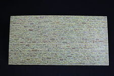 V943 FALLER Train Maquette 552/6 Planche carton mur imitation pierre 25*12,5 cm